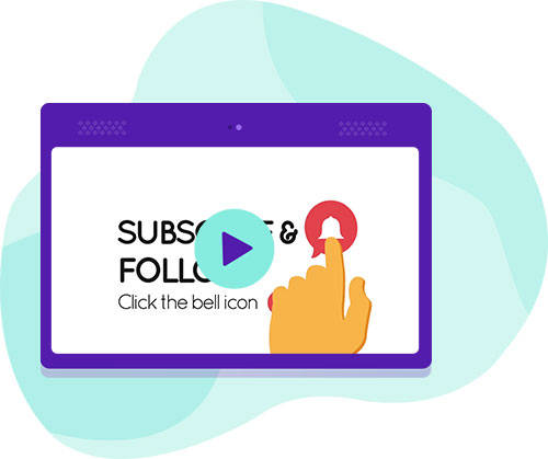 Make your viewers follow your channel with just the fun and surprise them with the bell alert style outro videos